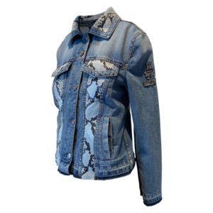 Jeans Jacket with cristal details