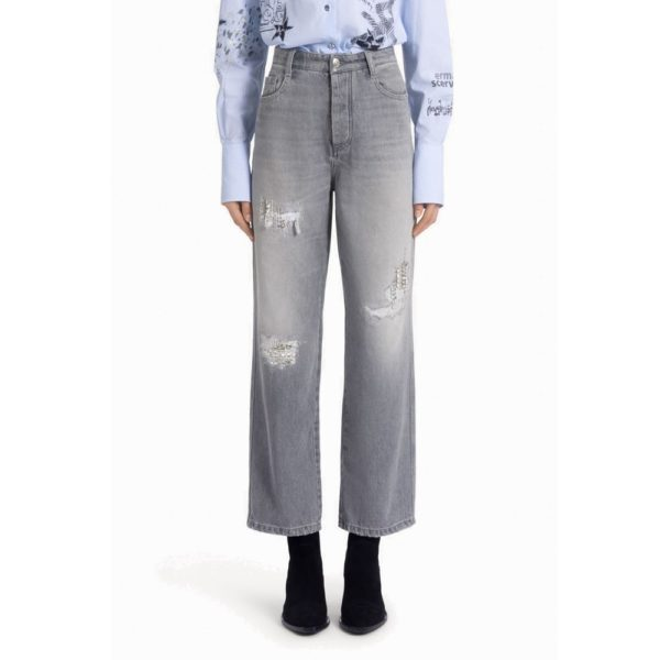 Boyfriend Jeans With Crystals
