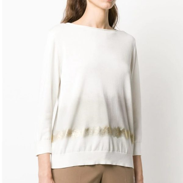 Ombré-effect relaxed-fit jumper