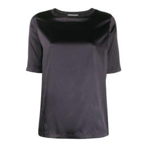Satin silk T-shirt
