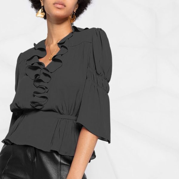 High low netted blouse