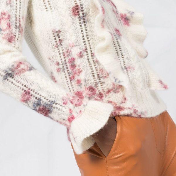 Floral ruffle jumper