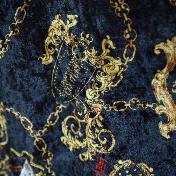 Chain crest print dress