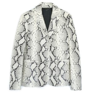 Single-breasted python print Jacket