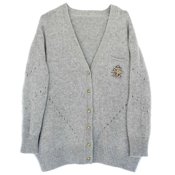 Cashmere Cardigan with cristal buttons