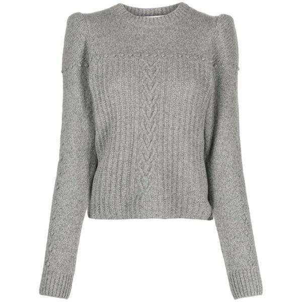Round neck cashmere sweater