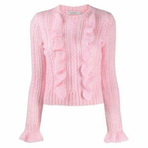 Pink ruffle jumper