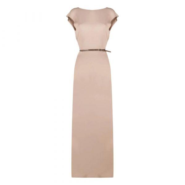 V-back sleeveless maxi dress