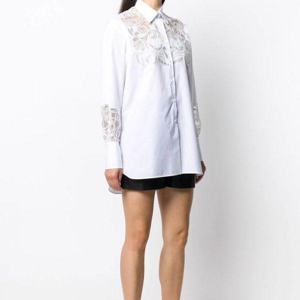 Lace cut-out shirt