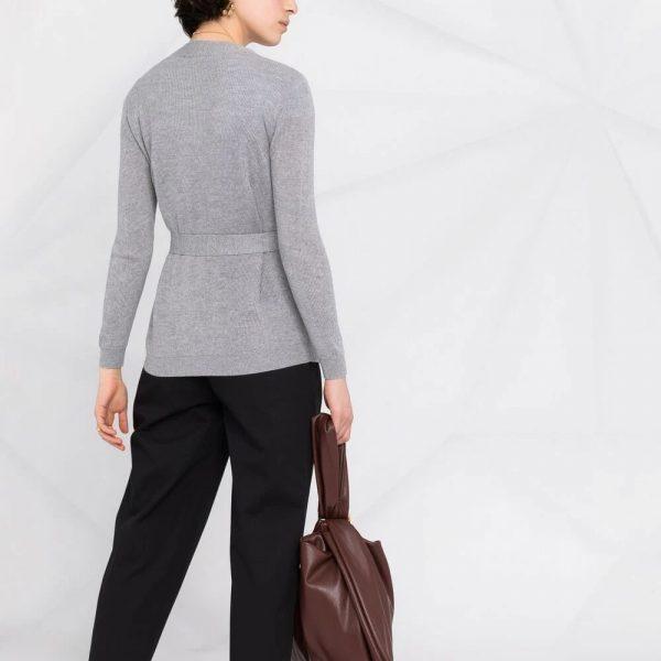 Tied waist knit cardigan